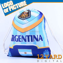 Argentina Boca soccer club fashion Cool Unisex Nylon gym/playground drawstring sling backback bag