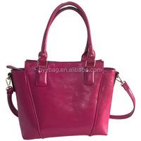 Aliexpress hot sale red zipper evening shopping tote bag for women wholesale handbag china