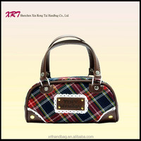 Plaid Cloth Fabric Fancy Mini China Replica Handbag