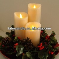 artificial flame candles with moving wick