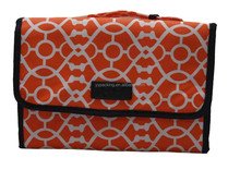 Printing Orange High Quality Fabric Cosmetic Bag for Women Wholesale 2015