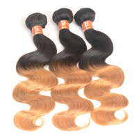 Brazilian body wave 1b 27 ombre color hair fusion extension ombre color hair extensions