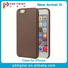Wholesale durable hard pu leather phone case for iphone 6