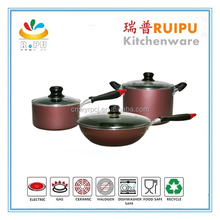 2016 enjoying market popularity non-stick cooking ware set, berndes cookware, look cookware made in japan