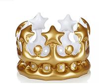 wholesaler 2015 christmas decoration sale King PVC inflatable crown