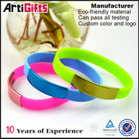 Made in china colourful personalized silicone bracelets