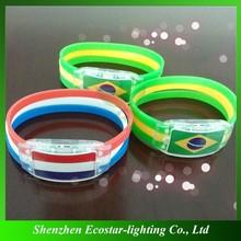 Personalized led bracelets/flashing bracelets/led flashing bracelets manufacturer