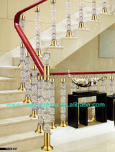 Modelo prefabricado casa plexiglás escaleras para interiores