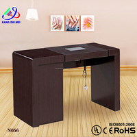 Nail manicure table dust collector/vented manicure tables wholesale/salon beauty manicure nail table KM-N056
