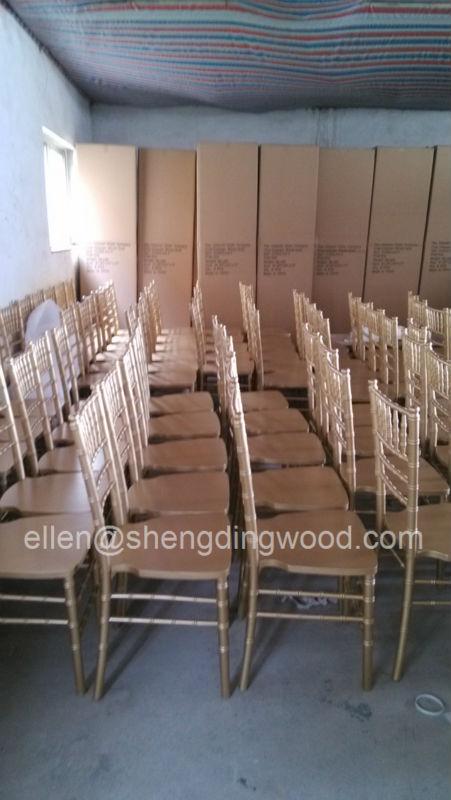 White wooden Banquet chair Chiavari chair Napoleon chairs