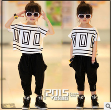 2015 girls clothing sets kids clothes hot sale girls clothes kids summer fashion clothing