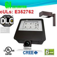 6 years warranty UL Dlc Led Shoebox Post Light