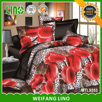 3d printed 100% polyester cheap bed sheet sets/bed sheet material/applique work bed sheet