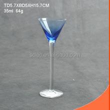 Wine shot glass goblet / mini colored glass