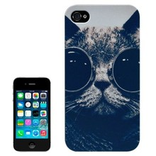 Frosted Black Back Shell Colored Drawing Hard Plastic Case for iPhone 4S