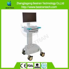 medical crash cart plastic computer cart