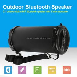 Outdoor active super bass portable bluetooth speaker