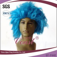 short mens party wigs blue synthetic aliexpress hair wigs