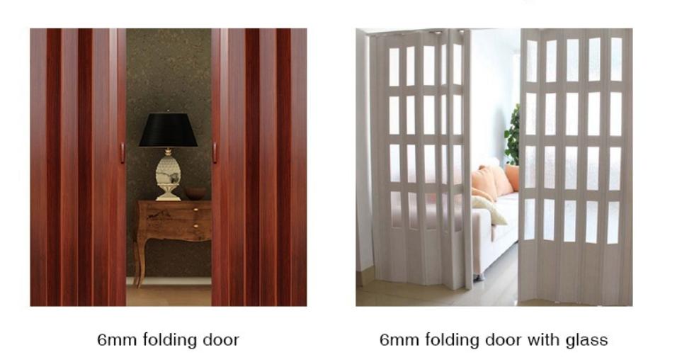 Fashionable Cheap Modern Folding Accordion Door Pvc Sliding Doors