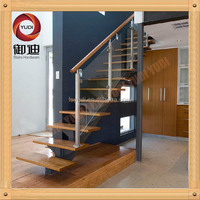 fancy handrail staircase balustrade with glass/tube