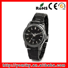 2014 High quality water resistant quartz all black cool frozen watch
