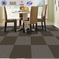 Stock a lot 500x500 PVC backing commercial tile carpet wholesale