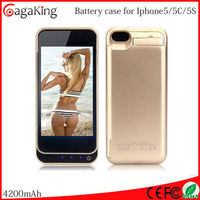 Backup Power bank for iphone 5 5s 4200mah External Charger Cover Battery Case for iphone5