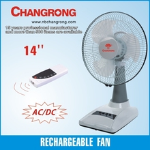 Good quality hot sale 14 inch rechargeable table fan with light