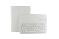 Hot Sale Waterproof Dustpoof Bluetooth Silicone Keyboard + PU Leather Case For iPad Air 2