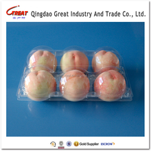 Plastic 6 Compartments Fruit Container Peach Packaging Tray