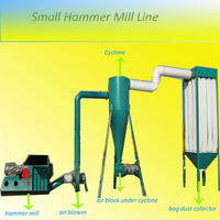 With belt conveyor and magnetic roller small 0.8-1t /h wood chips crusher/ crasher/grinder