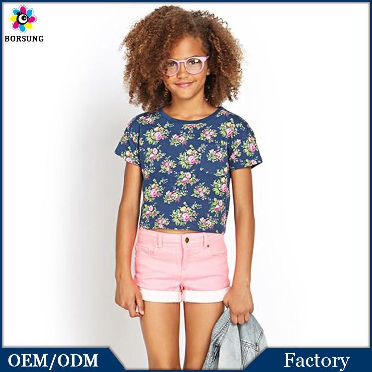 2PCS Children Frocks Designs Printed Kids Cotton Shirts&Sweat Jean Pants,Hot Selling Girls S ...