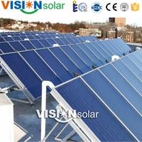 User-friendly blue Tinox anti-freezing solar collector