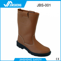 PU dual density injection genuine leather safety boots welding boot