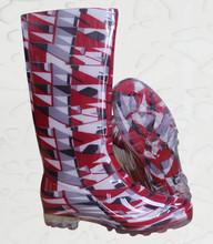 Ladies' rain boots/transparent PVC boot