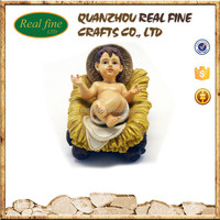 "High quality wholesale 3"" cheap resin Christian religious souvenir nativity baby jesus figurine"