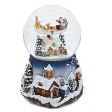Polyresin christmas Santa Claus snow globe