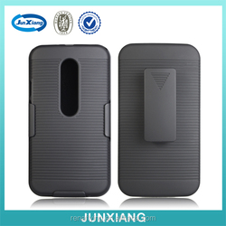 Hard back cover holster combo cell phone case for moto g3