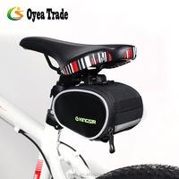 Cycling Seat Pouch Flashing Bicycle Bike Tail Rear Storage Bag