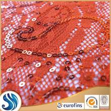 Dress fabric supplier 2015 new Lace sequin fabric leopard