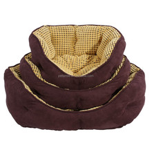 2015 new cuddle suede dog bed