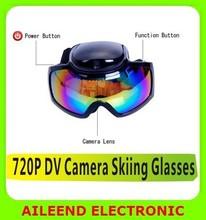 HD 720P Skiing SKI SNOW MX Goggle Eyewear Glass Camera Camcorder DV Waterproof skiing Glasses Camera