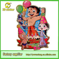 Hot sale! laser cut paper glitter sticke birthday party decorations for kids boys wholesale 18 theme