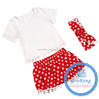 baby socks set organic cotton baby bodysuit red with white dot top and shorts and headband a set