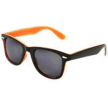 Two-Tone Frame Wayfarer Style Sunglasses Black on Orange sunglasses