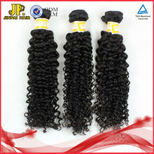 JP Hair Full Cuticle 100% Natura lKinky Curly Indian Wet And Wavy Clip In Hair Extensions