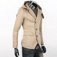 Influx of people must hooded suit Slim classic design hooded suit X09