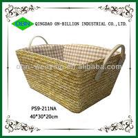 Durable handwoven large straw basket