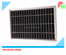 Glass laminted 3 watt 9 volt Monocrystalline solar panel