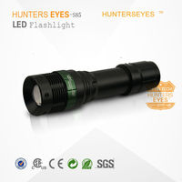 High Power Zoom 12V Rechargeable Bright Flashlight Aluminum Alloy Zoomable Police 3w Flashlight with Car Charger S85